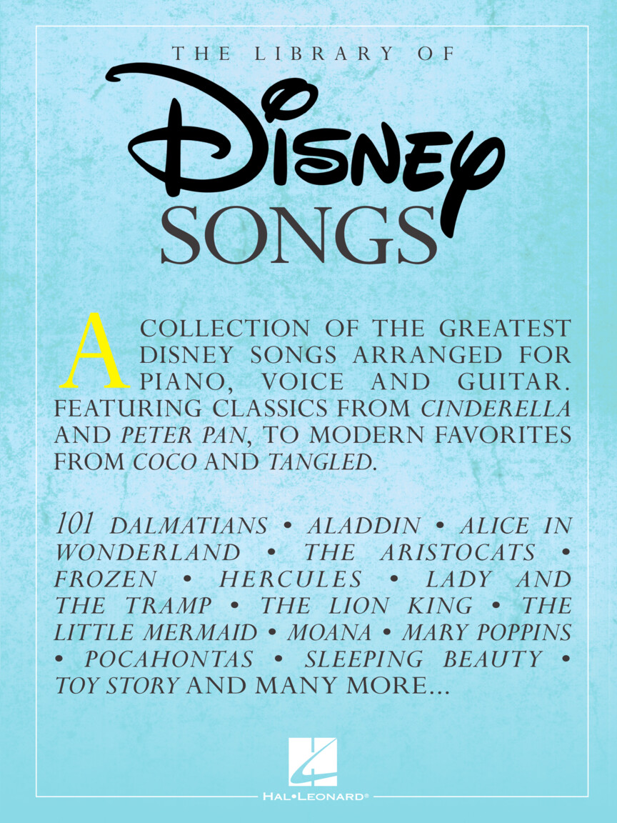 Product Cover for The Library of Disney Songs