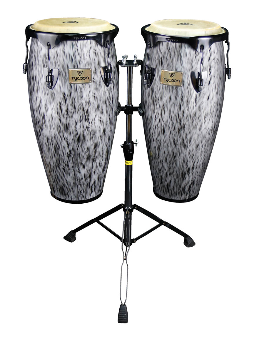 Kinetic Steel Series Congas – Black Powder with Double Stand