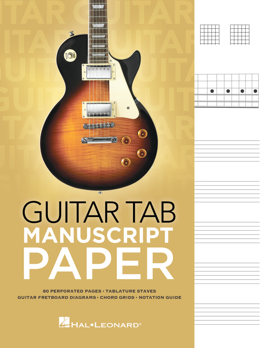 Product Cover for Guitar Tab Manuscript Paper