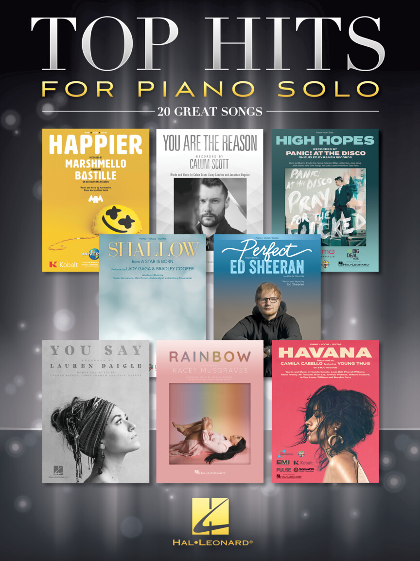 Product Cover for Top Hits for Piano Solo