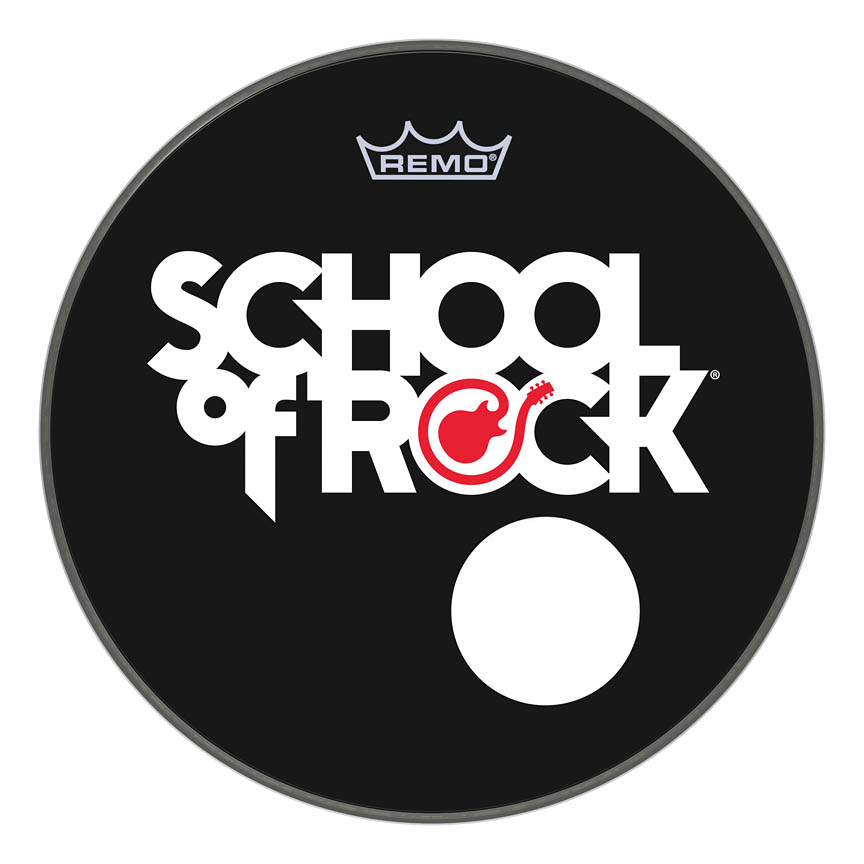 Product Cover for Remo School Of Rock Custom Graphic Bass Powerstroke 3 20 Mic Hole