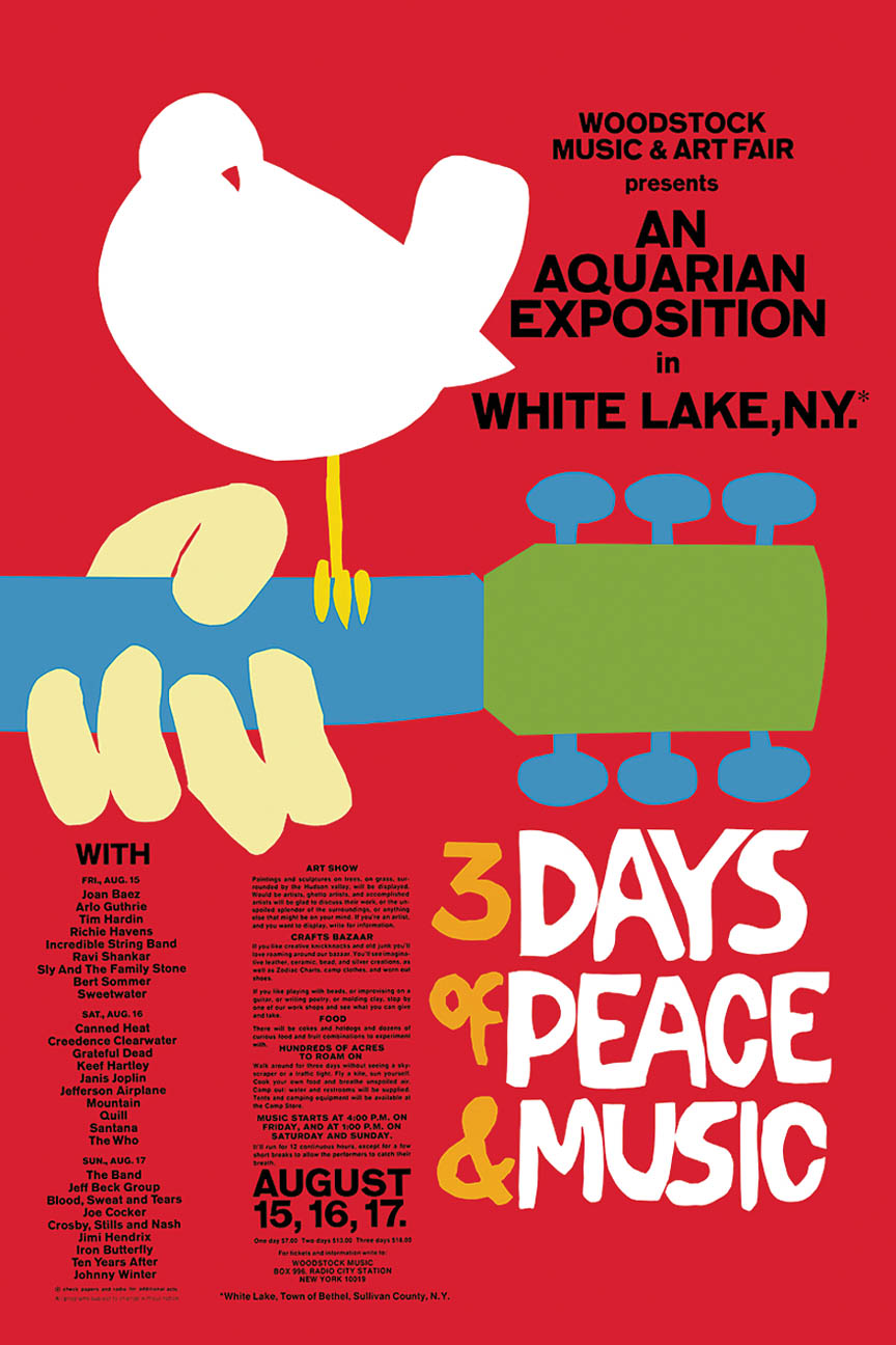 Product Cover for Woodstock Classic Red Wall Poster