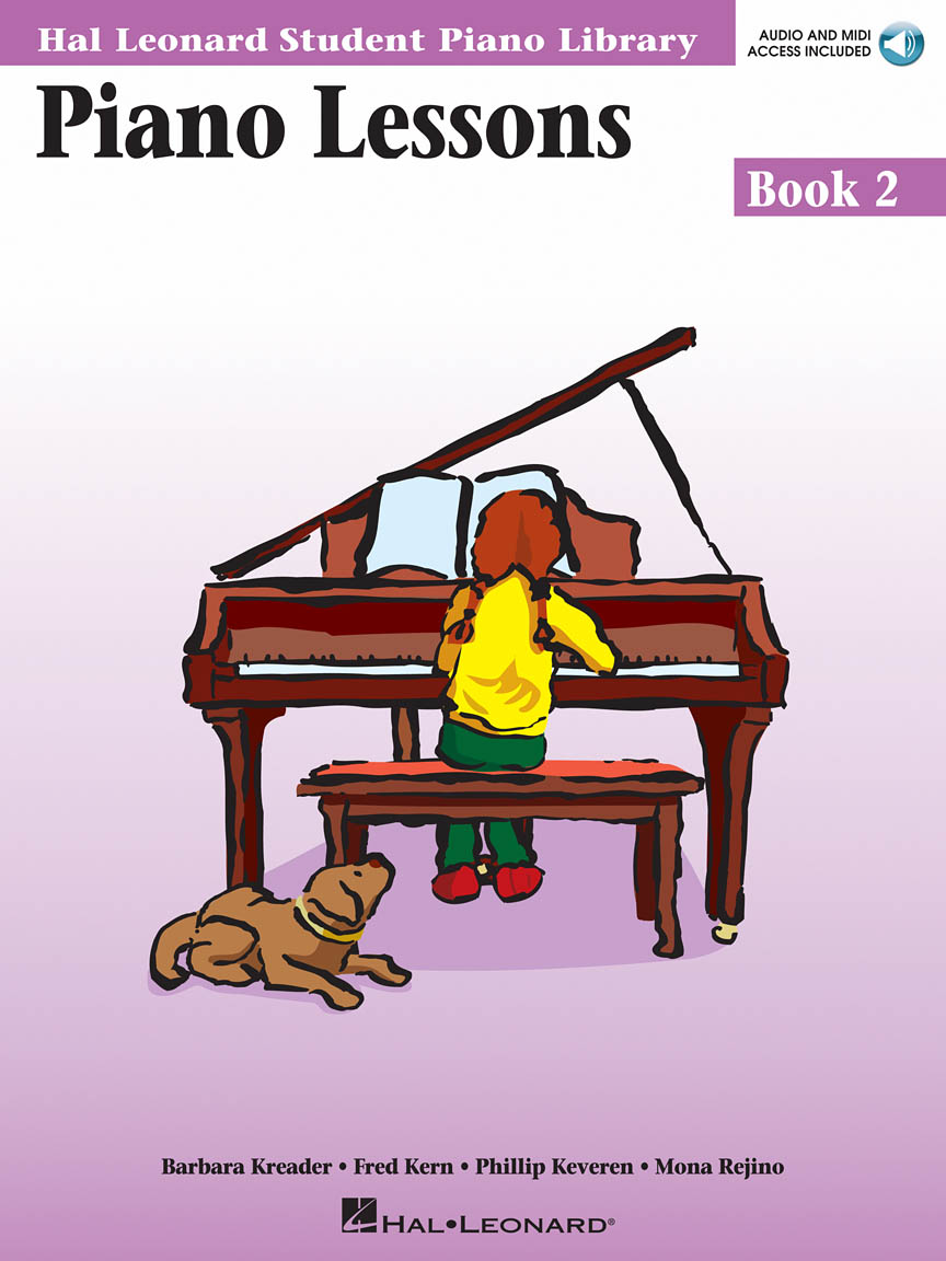 Product Cover for Piano Lessons Book 2 – Audio and MIDI Access Included