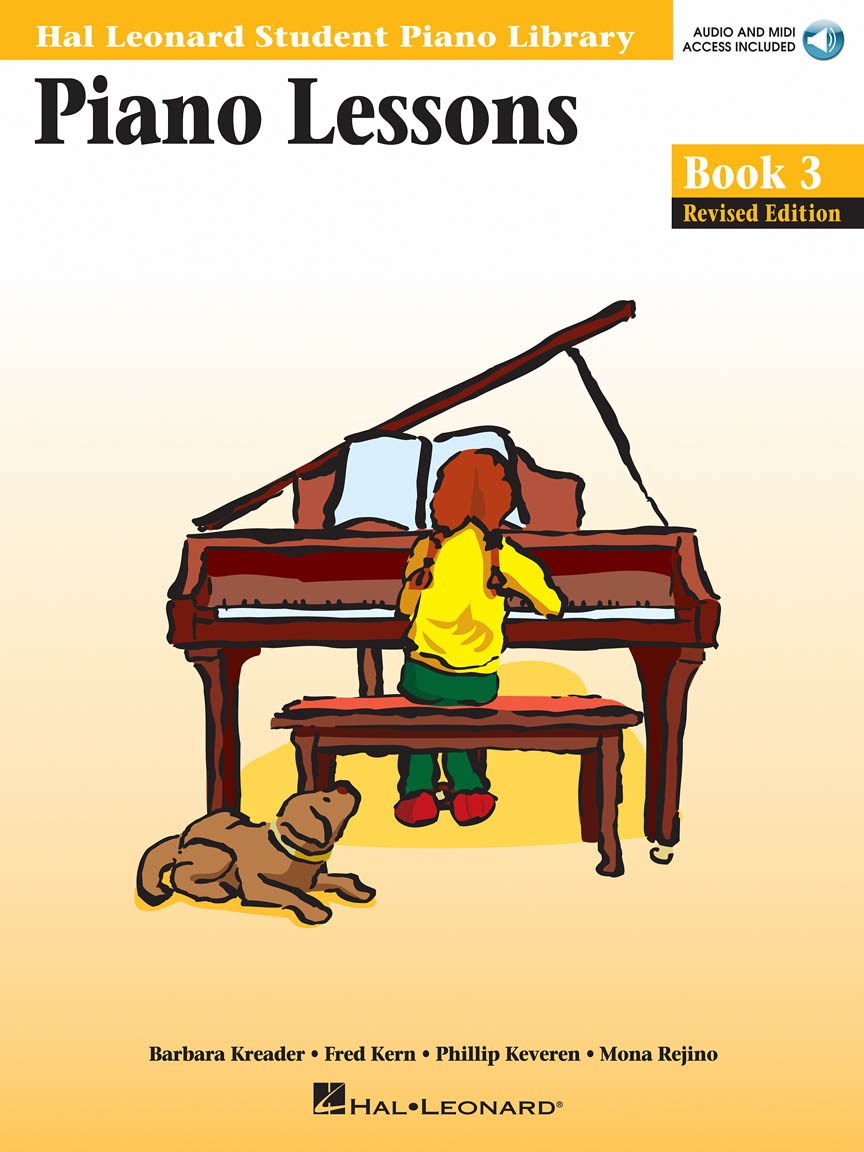 Product Cover for Piano Lessons Book 3 – Book/Online Audio & MIDI Access Included