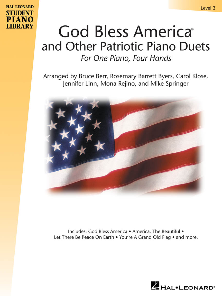 Product Cover for God Bless America and Other Patriotic Piano Duets – Level 3