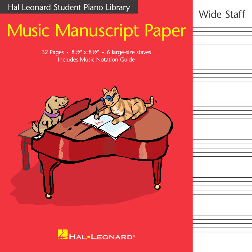 Product Cover for Hal Leonard Student Piano Library Music Manuscript Paper – Wide Staff