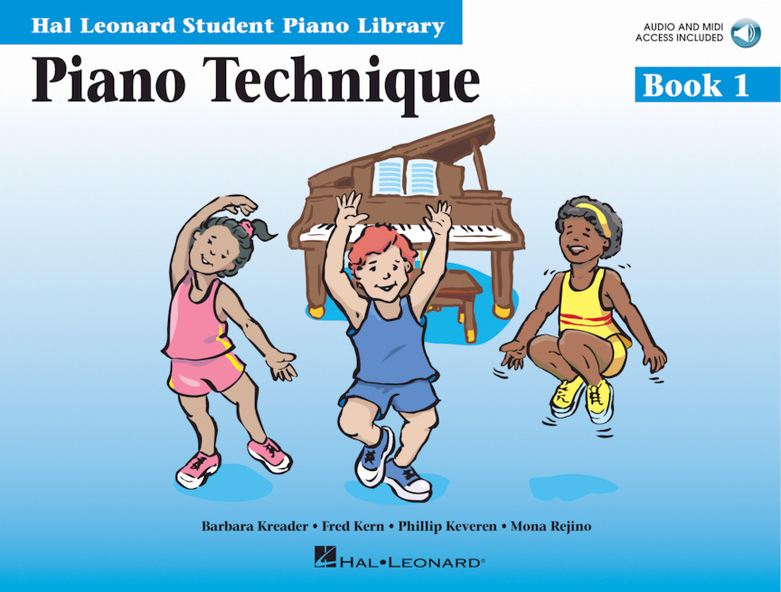 Product Cover for Piano Technique Book 1 – Book with Online Audio