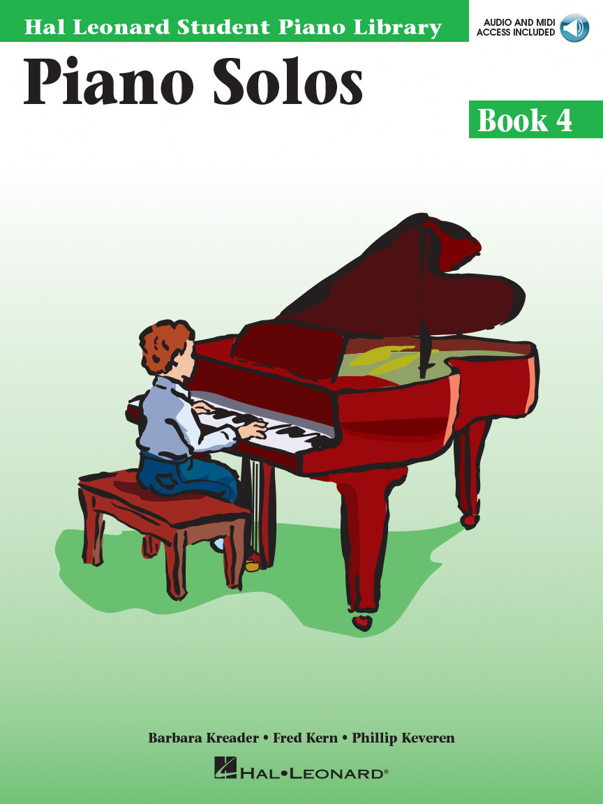 Product Cover for Piano Solos Book 4 – Book with Online Audio