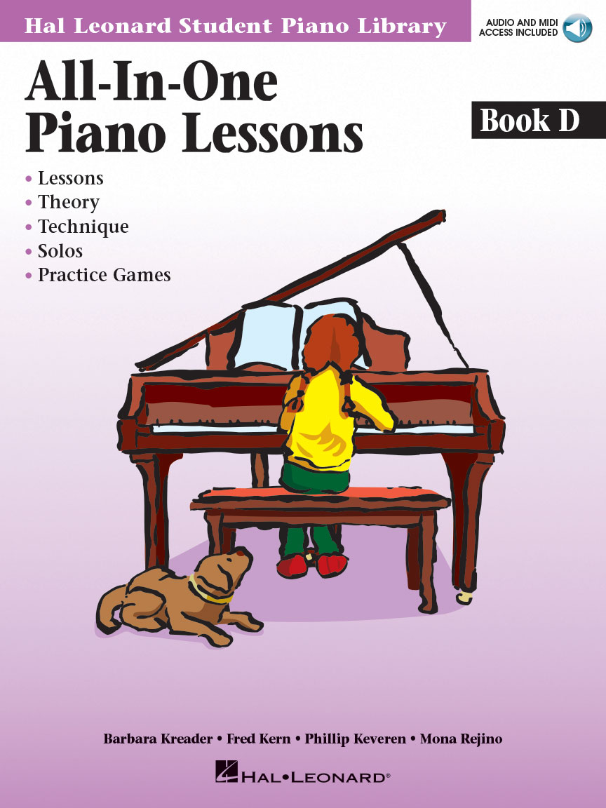 Product Cover for All-in-One Piano Lessons Book D