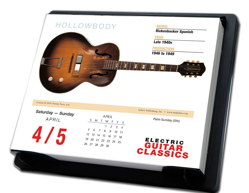 Product Cover for 2020 Electric Guitar Classics Daily Desk Calendar