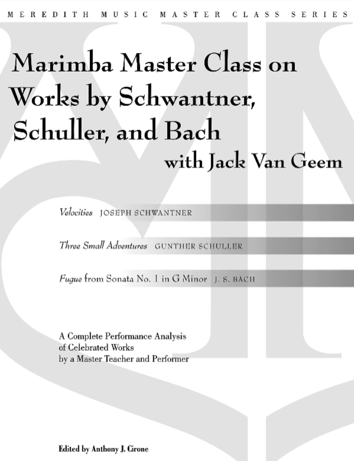 Product Cover for Percussion Master Class on Works by Schwantner, Schuller and Bach