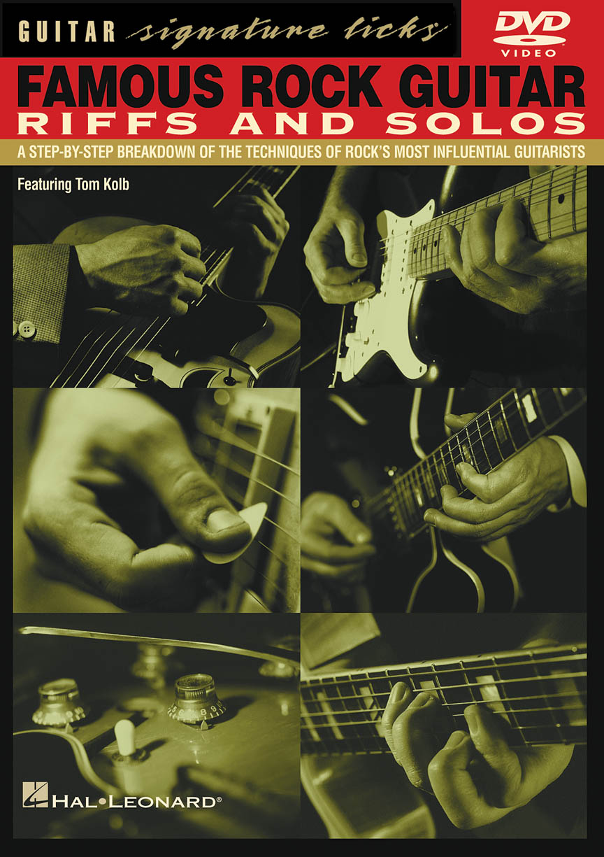 Product Cover for Famous Rock Guitar Riffs and Solos
