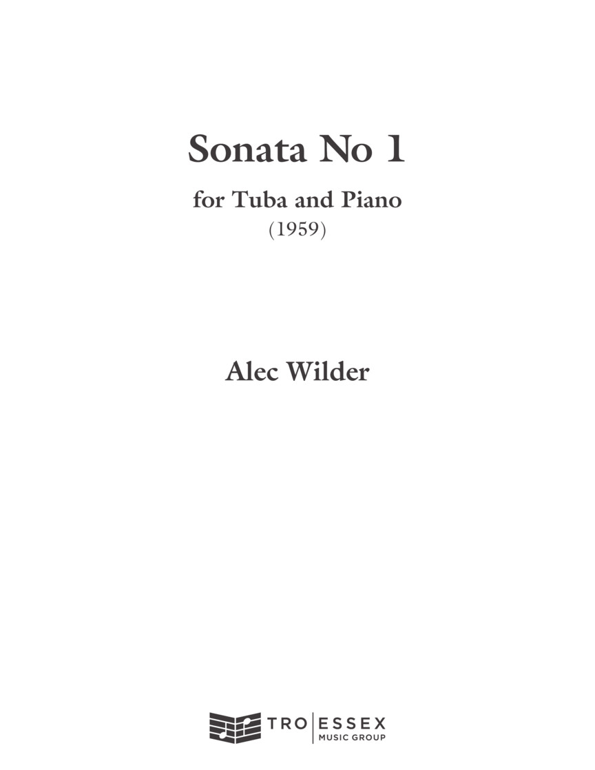 Product Cover for Sonata for Tuba and Piano (1959)