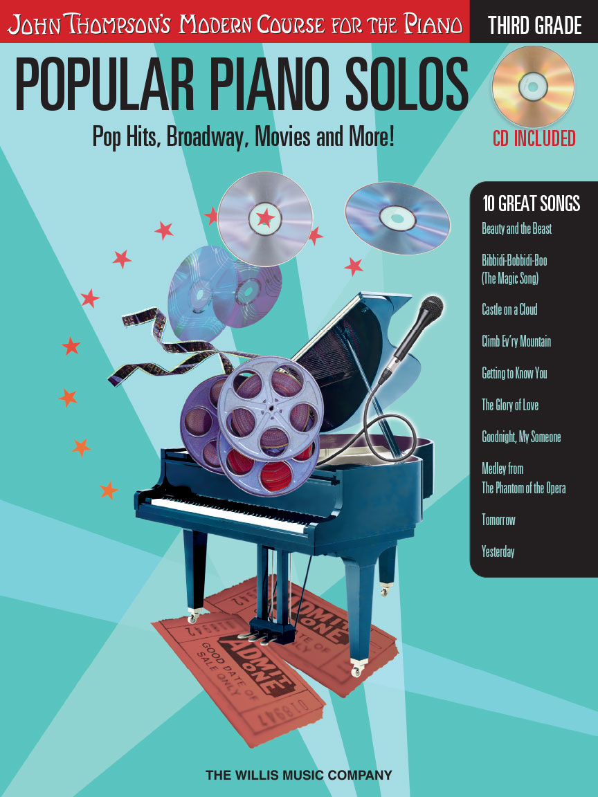 Product Cover for Popular Piano Solos – Grade 3 – Book/Audio