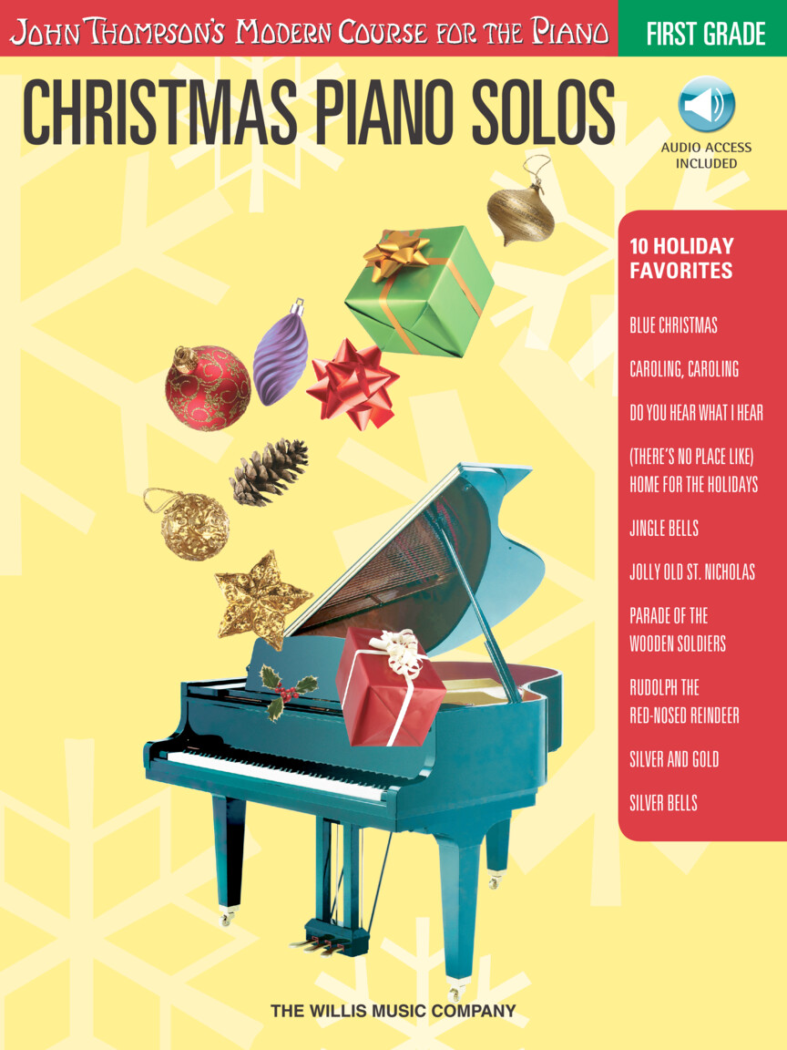 Christmas Piano Solos – First Grade (Book/Online Audio)