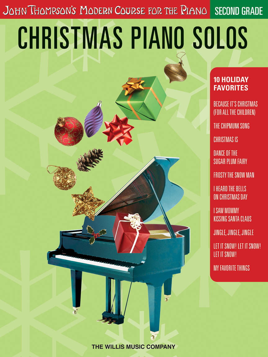 Product Cover for Christmas Piano Solos – Second Grade (Book/CD Pack)