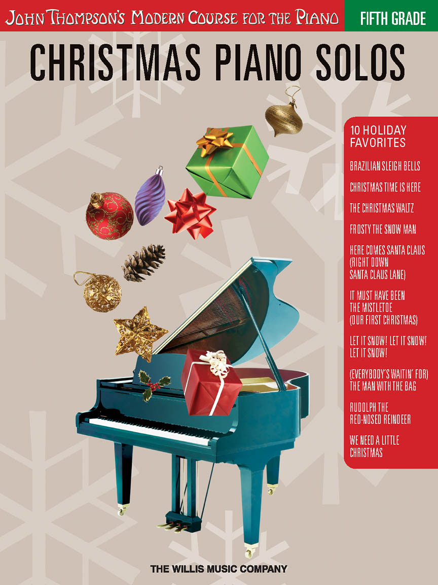 Product Cover for Christmas Piano Solos – Fifth Grade (Book/CD Pack)