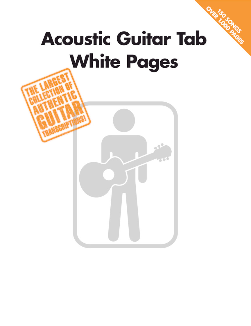 Product Cover for Acoustic Guitar Tab White Pages