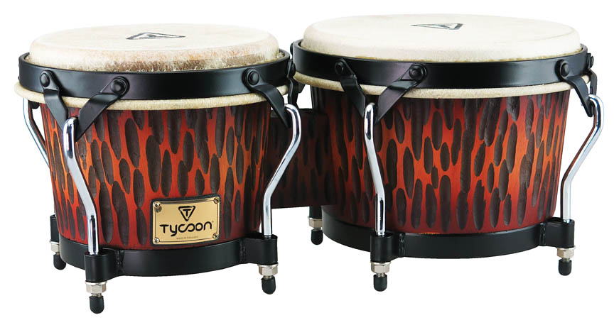 Product Cover for Supremo Series Chiseled Orange Finish Bongos