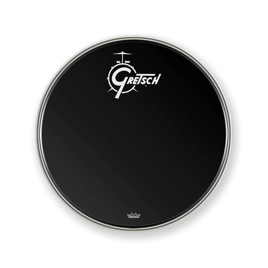 Product Cover for Gretsch Bass Head, Ebony 22in Logo