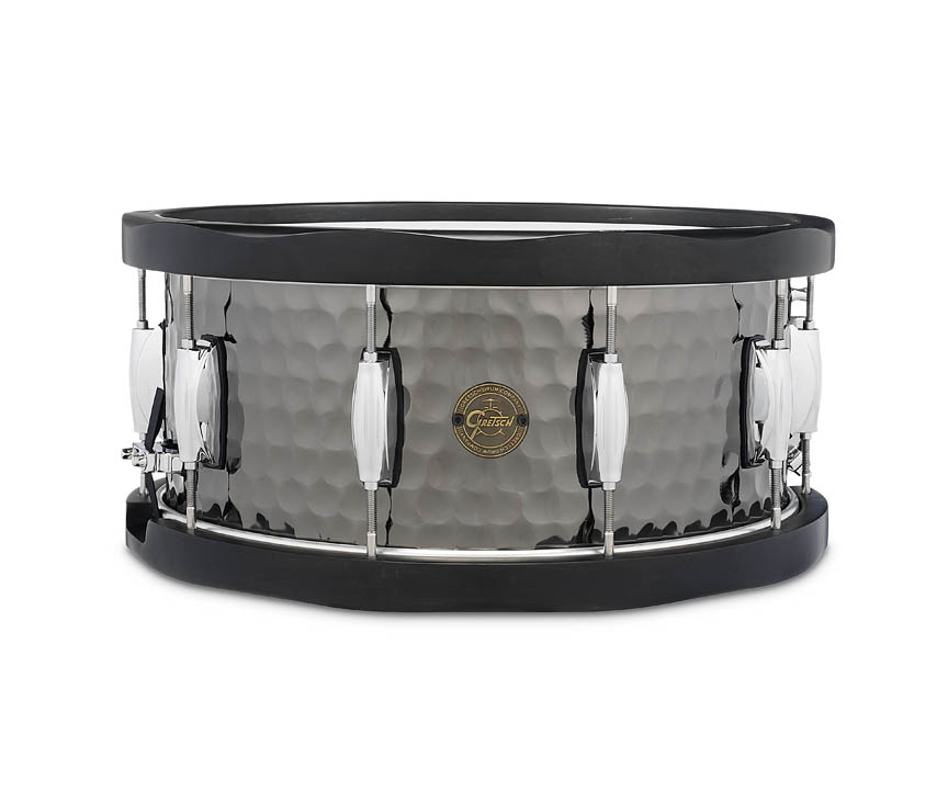 Product Cover for Gretsch 6.5X14 Hammered Black Steel Wood Hoop Snare Drum