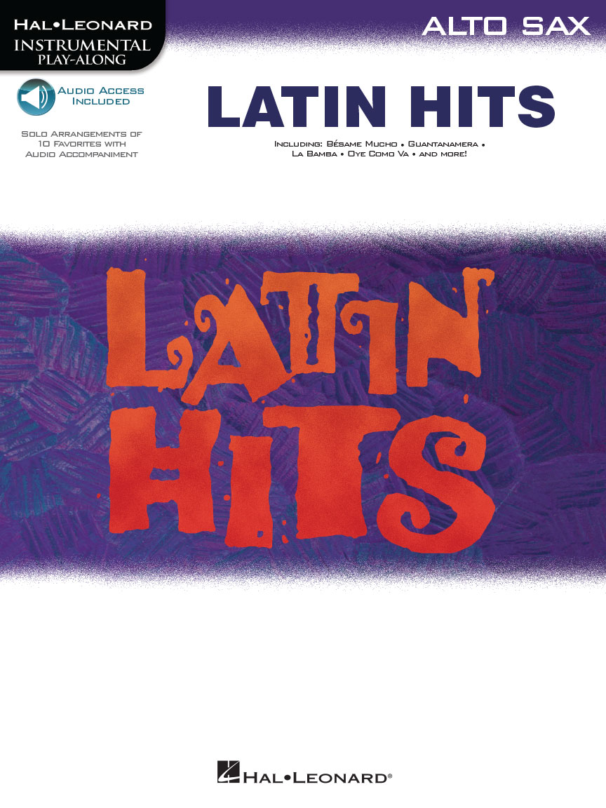 Product Cover for Latin Hits – Instrumental Play Along for Alto Sax