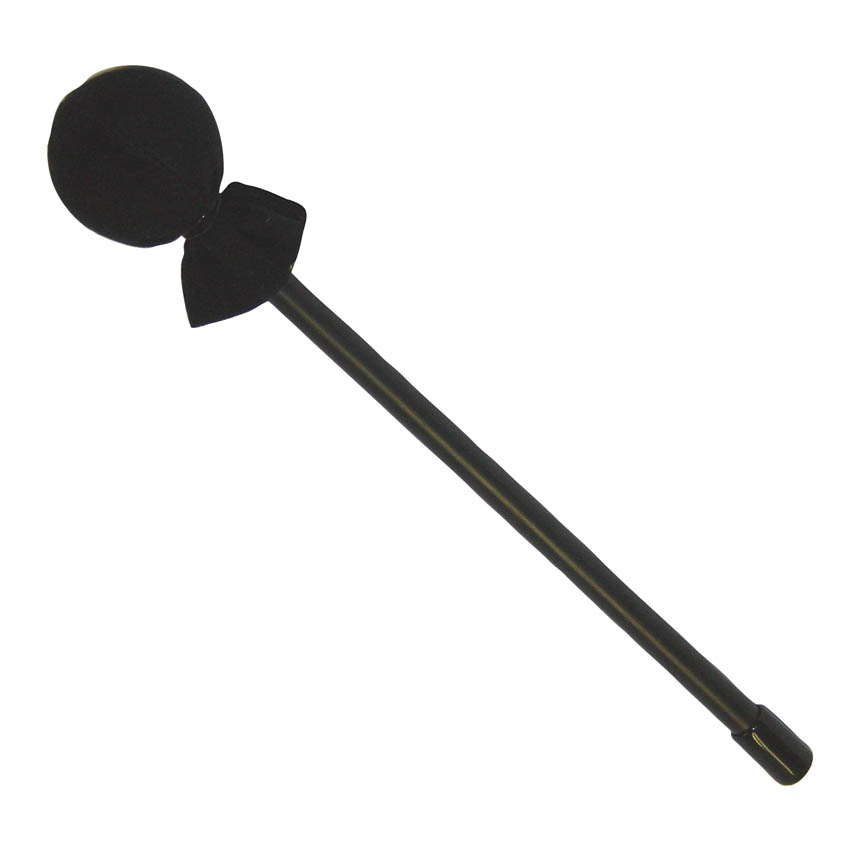 """Product Cover for Mallet, 3/8"""" X 10"""", Black Plastic Handle, 40mm Rubber Head, Soft Black Cover"""