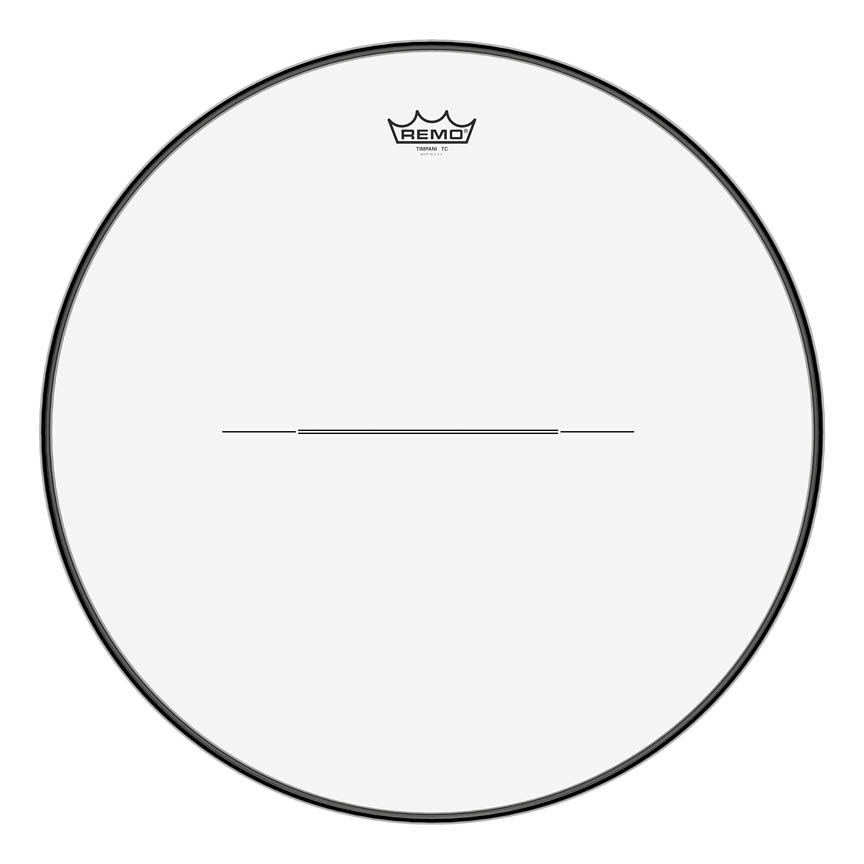 """Product Cover for Timpani, Clear, 22"""" Diameter, Low-profile Steel Insert Ring"""