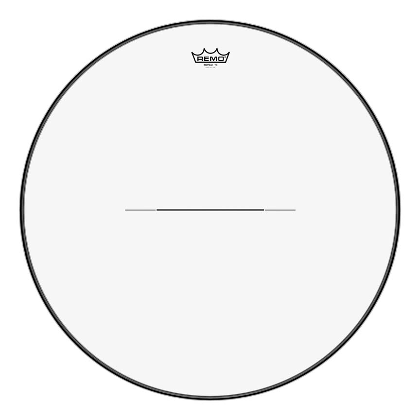 """Product Cover for Timpani, Clear, 25"""" Diameter, Low-profile Steel Insert Ring"""