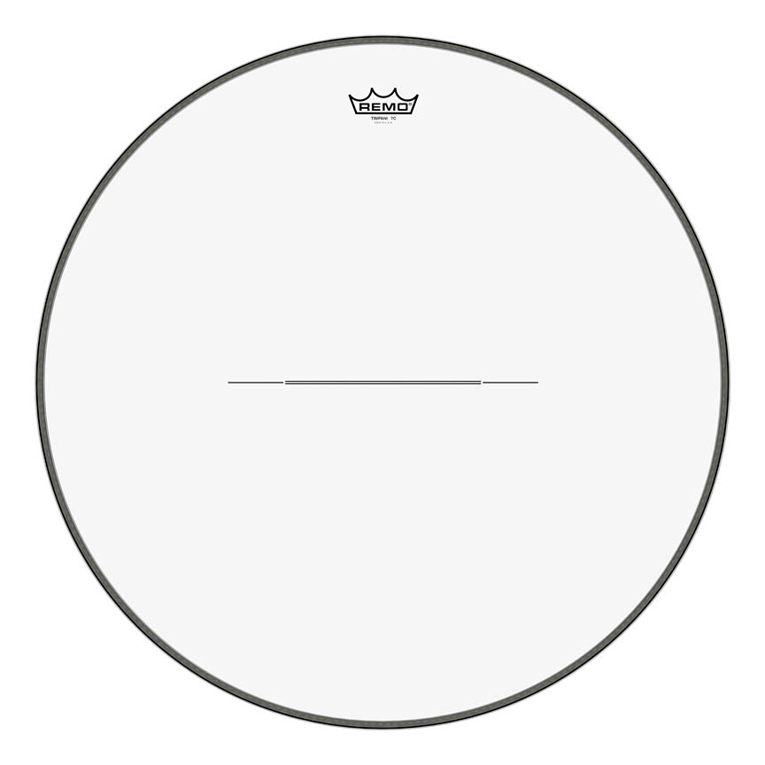 """Product Cover for Timpani, Clear, 25"""" Diameter, Steel Insert Ring"""