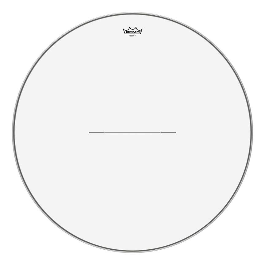 "Product Cover for Timpani, Clear, 31"" Diameter, Aluminum Insert Ring"