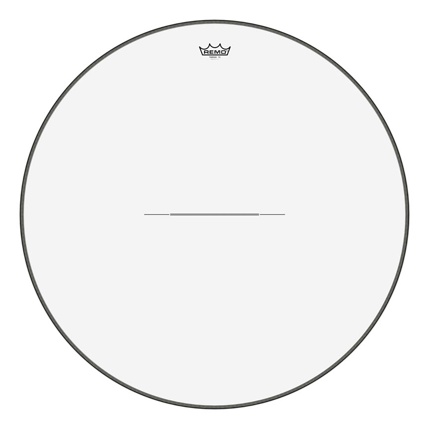 """Product Cover for Timpani, Clear, 31"""" Diameter, Steel Insert Ring"""