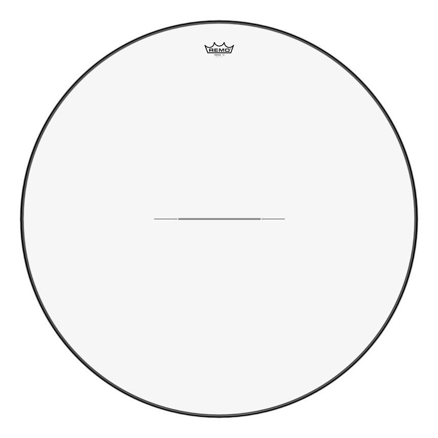 """Product Cover for Timpani, Clear, 34"""" Diameter, Low-profile Steel Insert Ring"""
