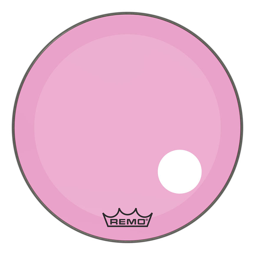 Product Cover for Powerstroke® P3 Colortone™ Pink Skyndeep® Drumhead with 5″ Offset Hole