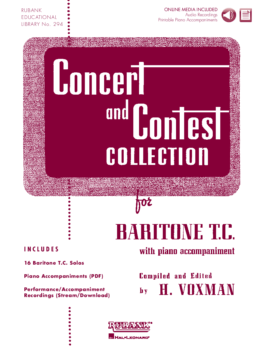 Product Cover for Concert and Contest Collection for Baritone T.C.