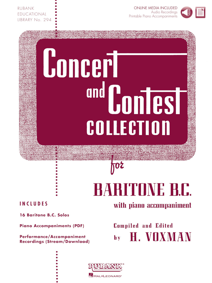 Product Cover for Concert and Contest Collection for Baritone B.C.