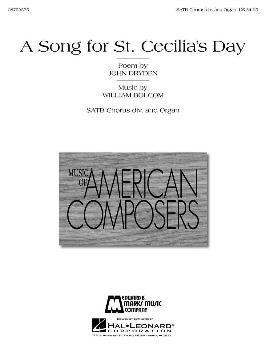Product Cover for A Song for St. Cecilia's Day