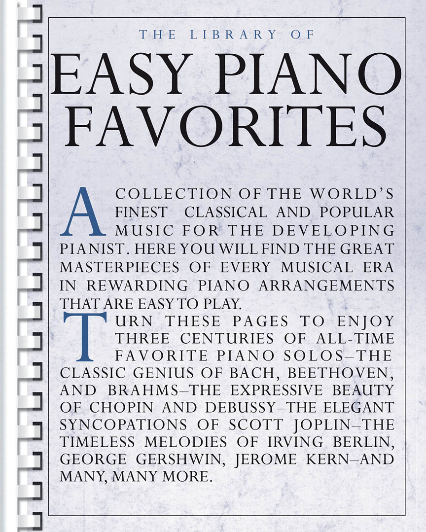 Product Cover for The Library of Easy Piano Favorites