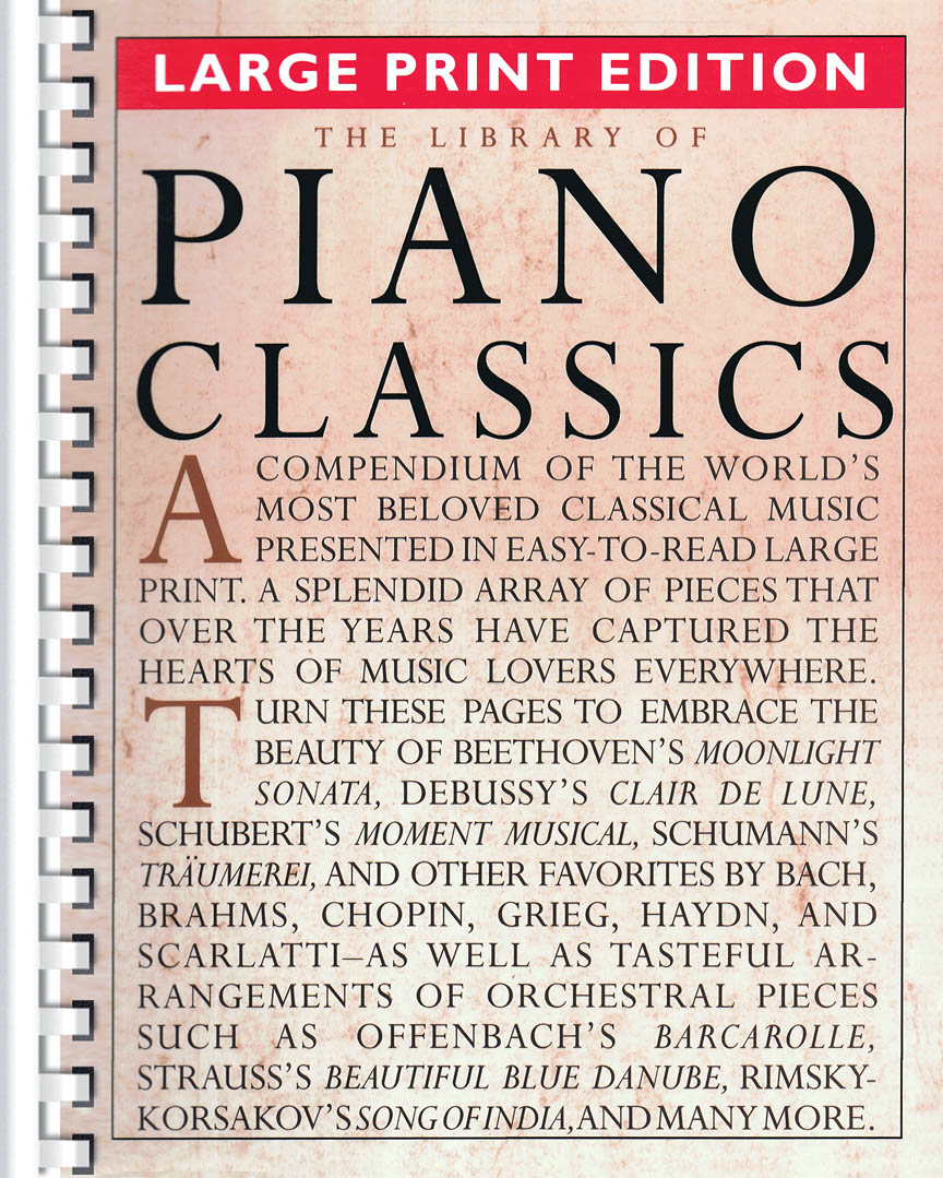 Product Cover for The Library of Piano Classics – Large Print Edition