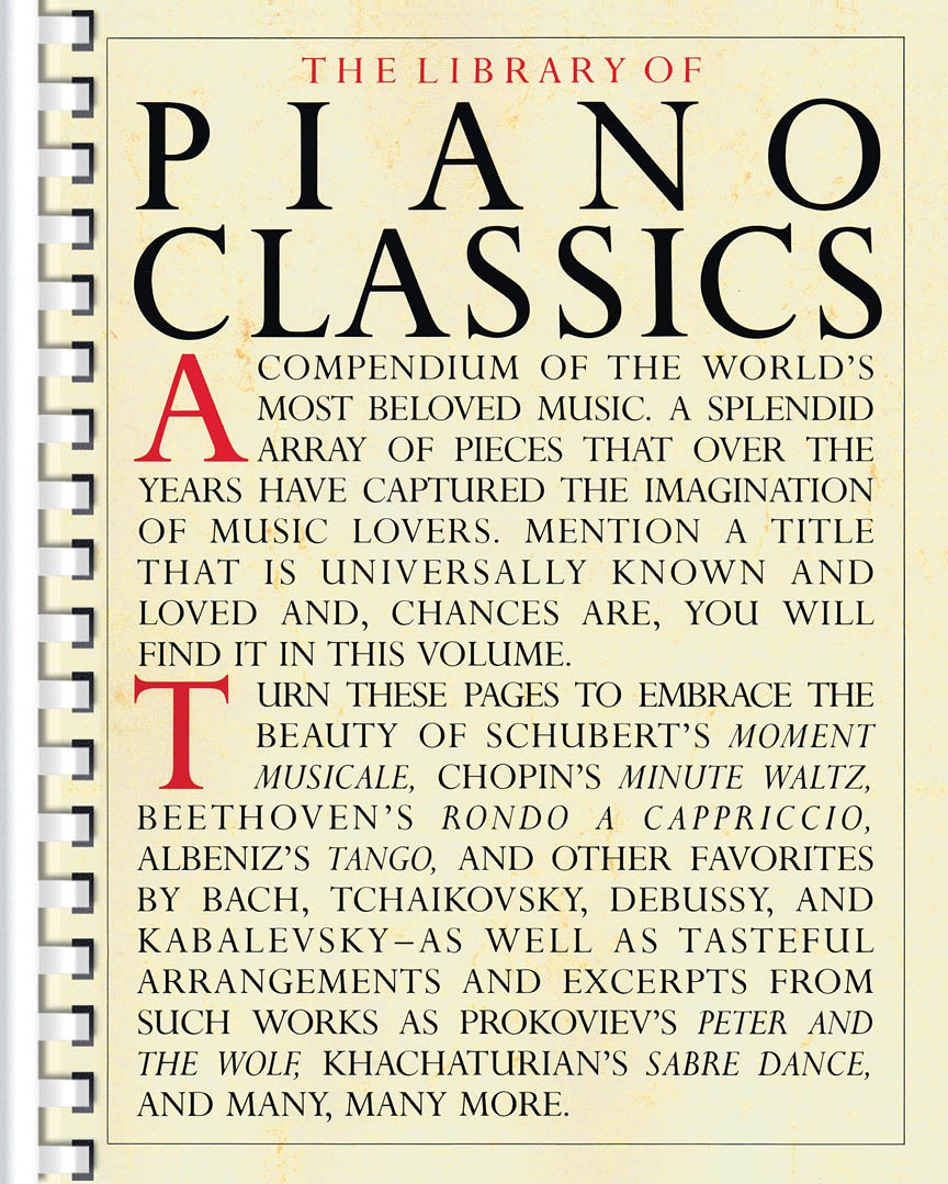 Product Cover for Library of Piano Classics