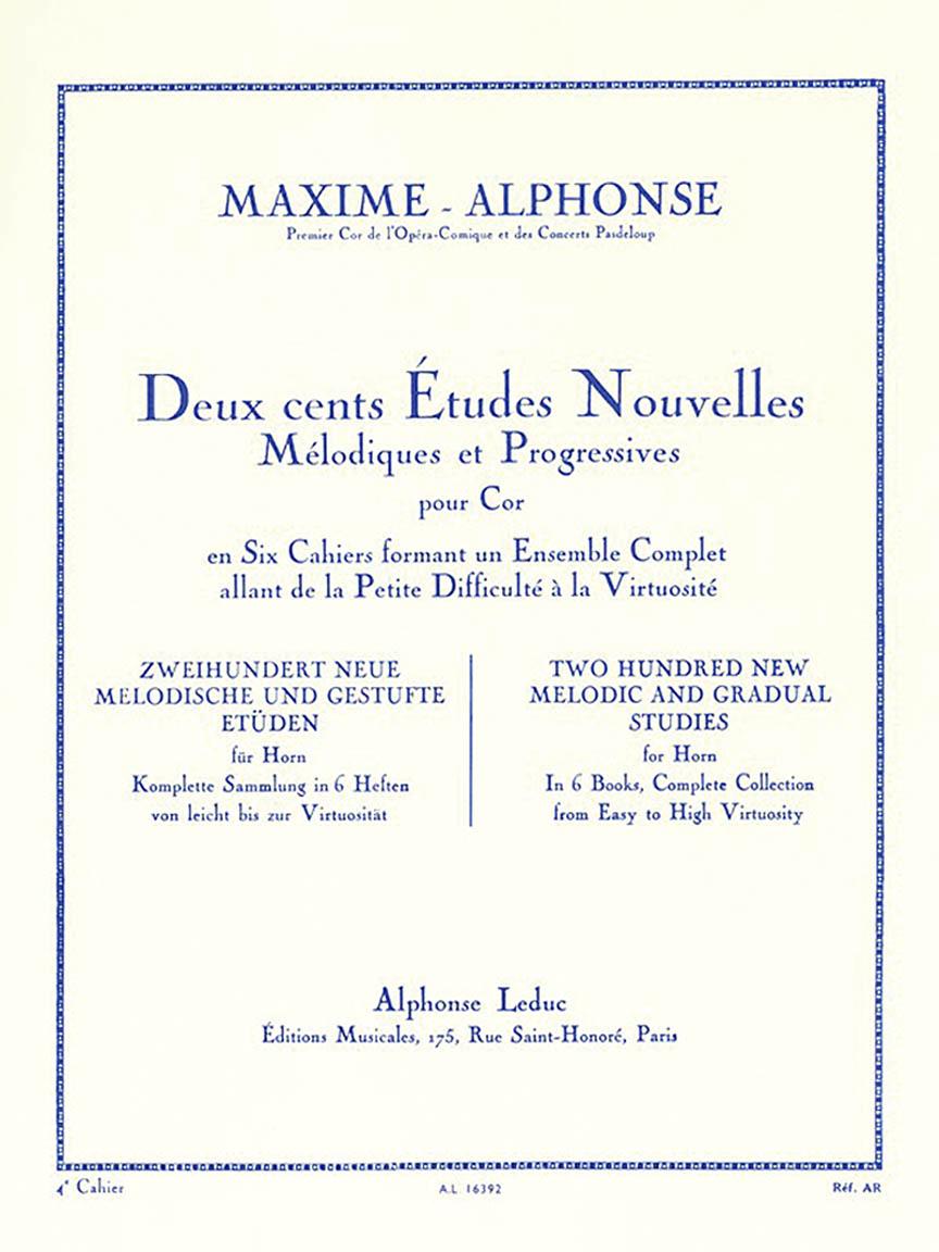 Product Cover for Deux cents Études Nouvelles Mélodiques et Progressives Pour Cor – Cahier 4: Vingt Etudes Difficiles