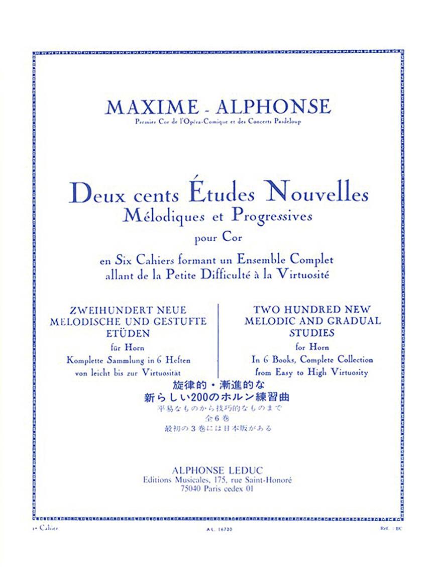 Product Cover for Deux cents Études Nouvelles Mélodiques et Progressives Pour Cor – Cahier 2: 40 Études Faciles