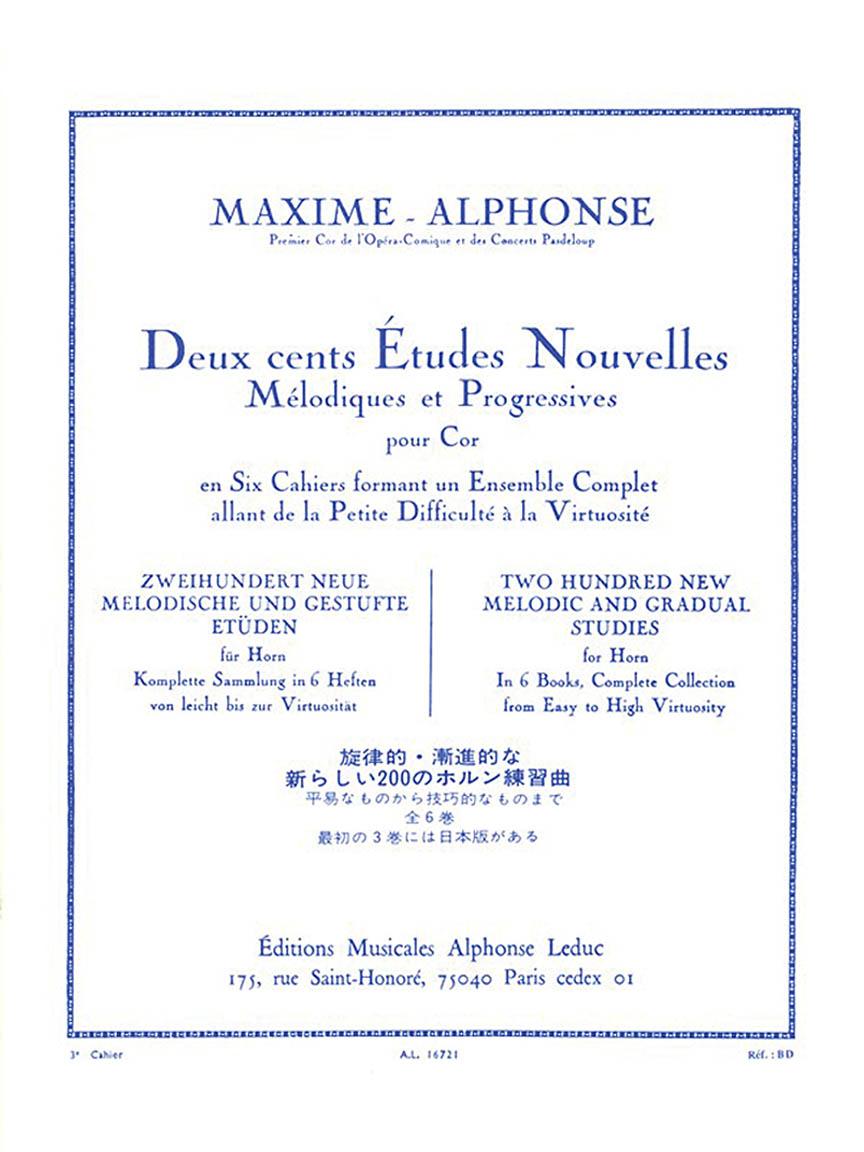 Product Cover for Deux cents Études Nouvelles Mélodiques et Progressives Pour Cor – Cahier 3: 40 Etudes Moyenne Force