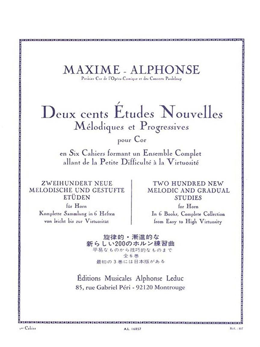 Product Cover for Deux cents Études Nouvelles Mélodiques et Progressives Pour Cor – Cahier 1: 70 Études Très Faciles