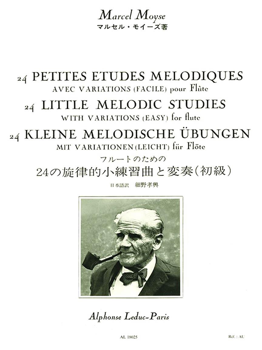 Product Cover for 24 Petites Etudes Melodiques Avec Variations (Facile) pour Flute