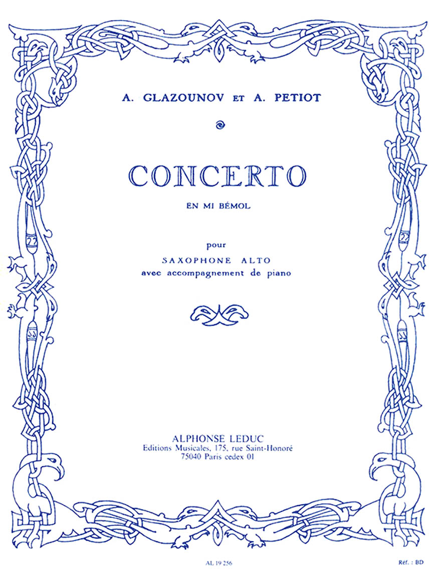 Product Cover for Saxophone Concerto Op. 109 in E Flat