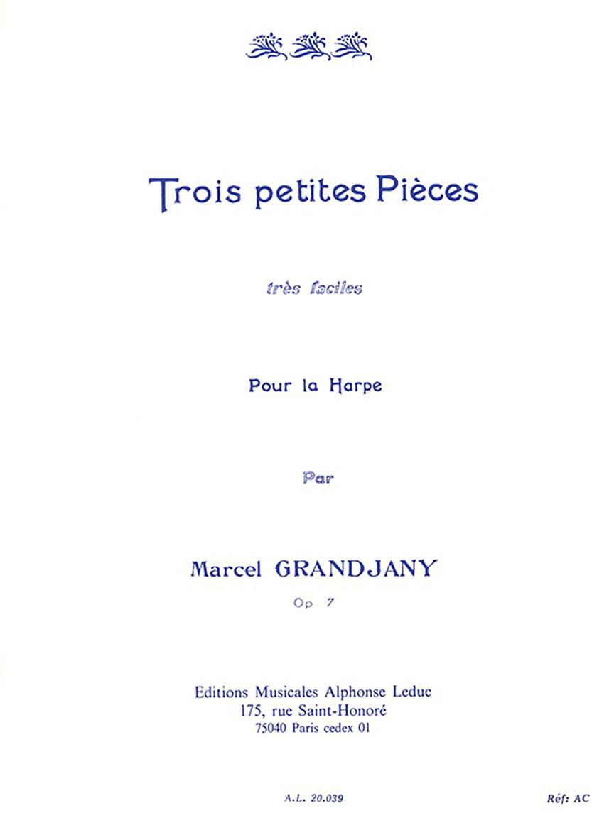 Product Cover for 3 Petites Pièces Très Faciles Op. 7