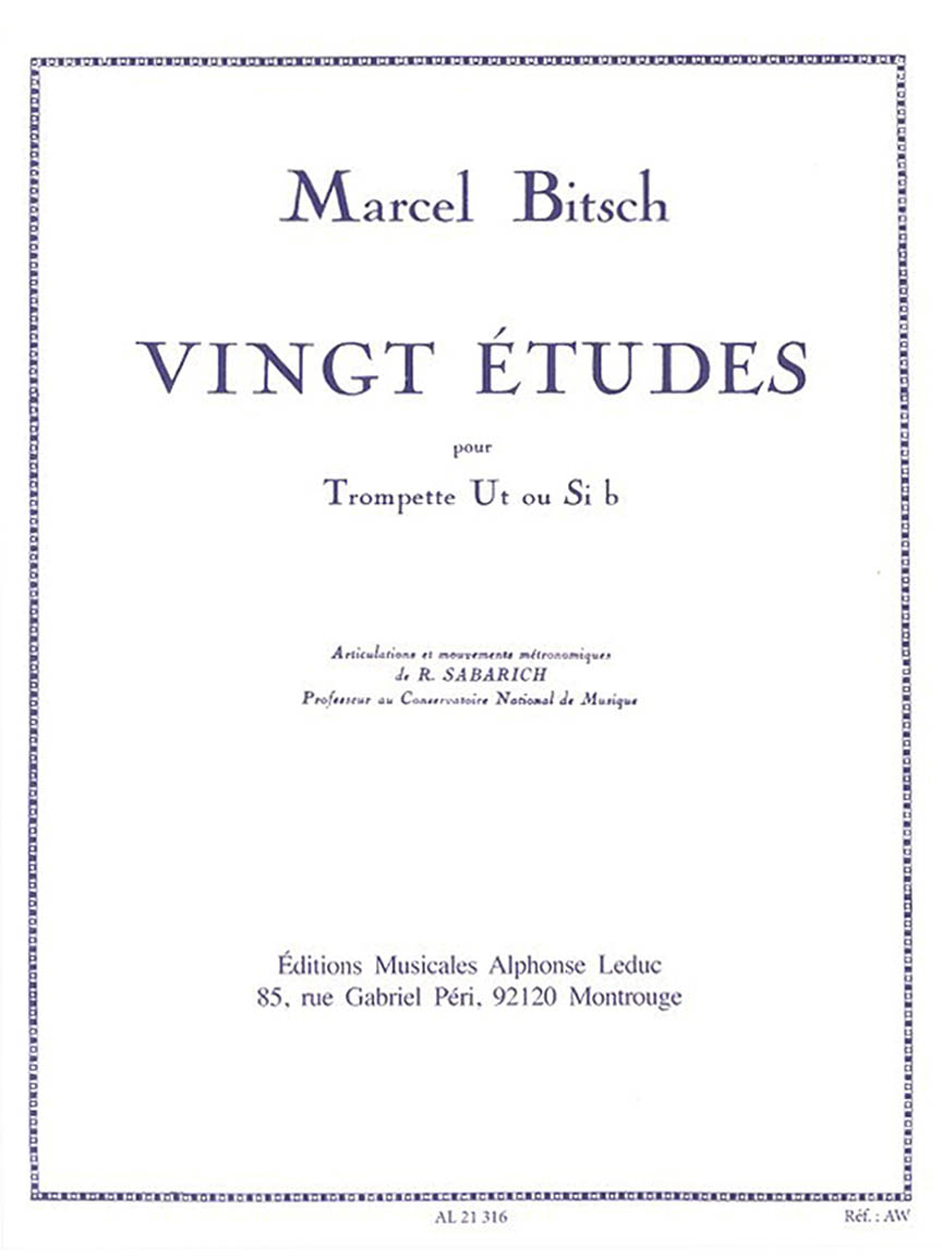 Product Cover for Vingt Etudes