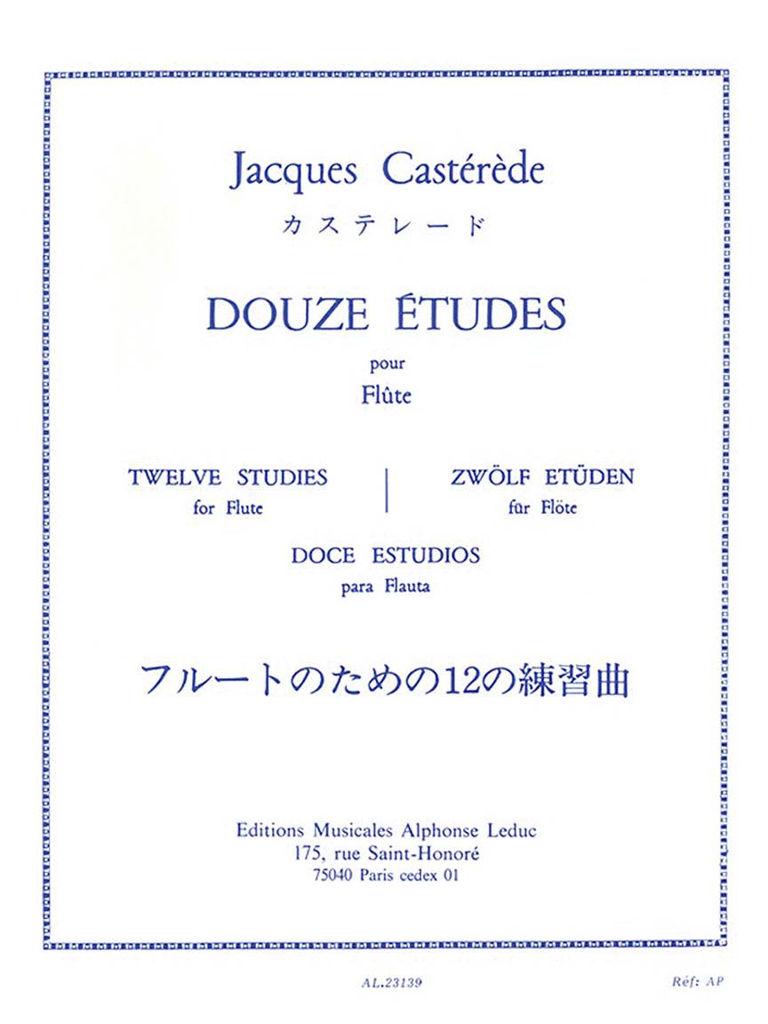 Product Cover for Douze Études Pour Flute
