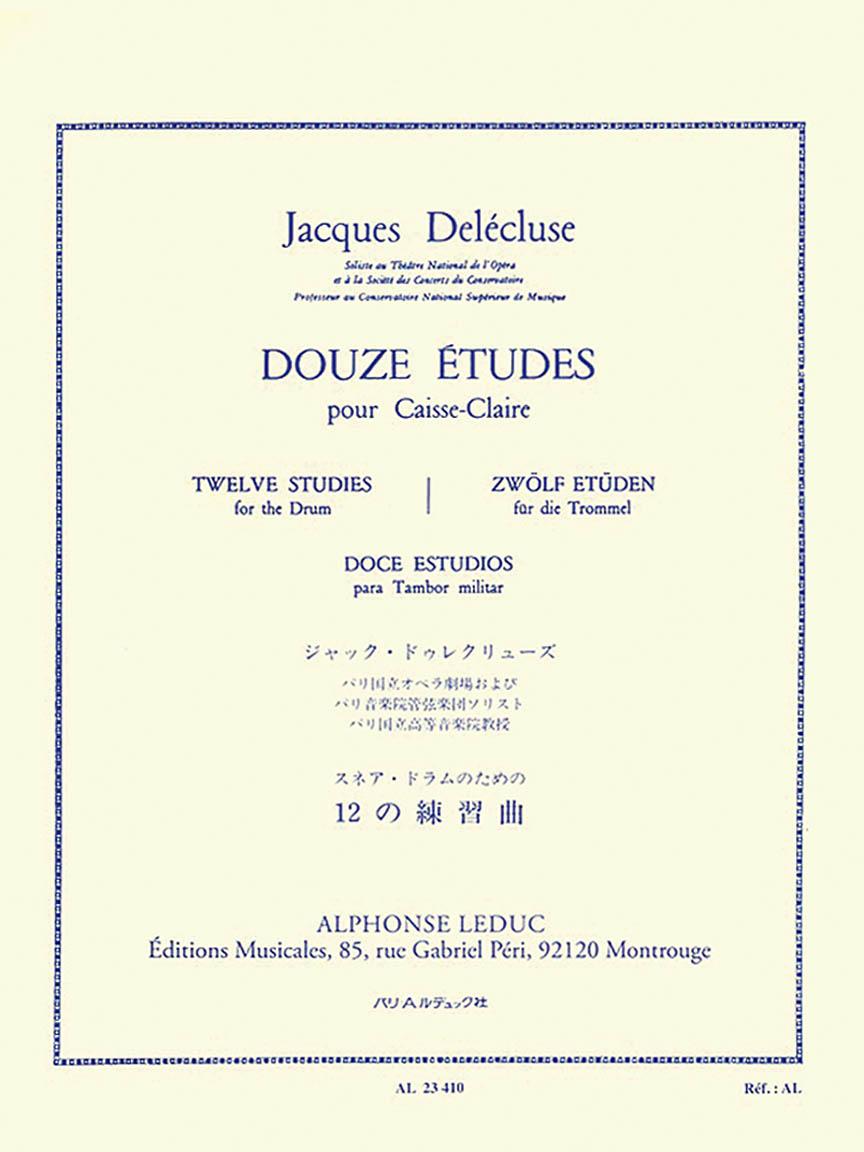 Product Cover for Douze Etudes Pour Caisse-Claire
